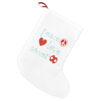 Fútbol del amor de la paz bota navideña pequeña