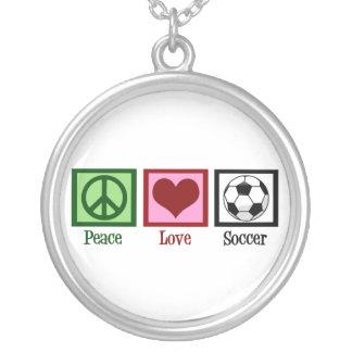 Fútbol del amor de la paz collares