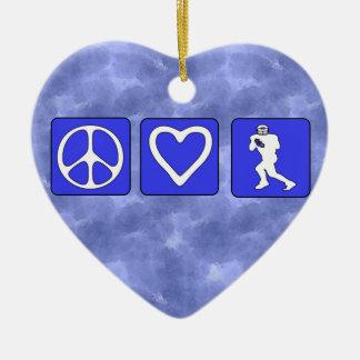 Fútbol del amor de la paz ornamentos de reyes