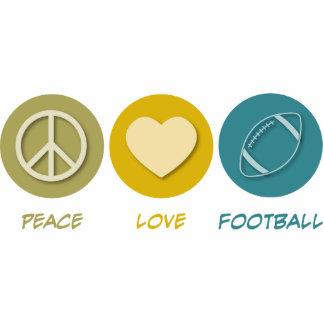 Fútbol del amor de la paz esculturas fotograficas