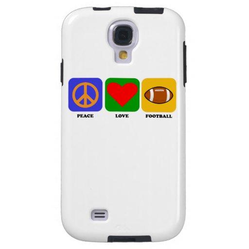 Fútbol del amor de la paz funda para galaxy s4