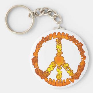 Fútbol del amor de la paz llavero personalizado