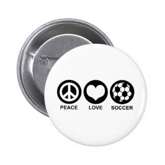 Fútbol del amor de la paz pin