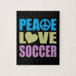 Fútbol del amor de la paz puzzle
