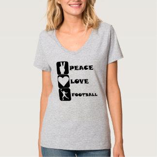 Fútbol del amor de la paz (receptor de banda polera
