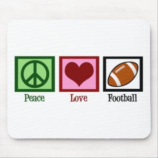 Fútbol del amor de la paz tapete de ratón