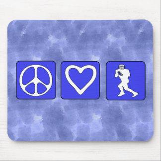 Fútbol del amor de la paz tapetes de raton