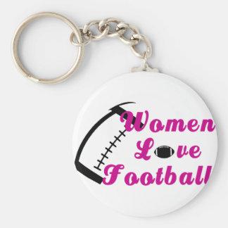 Fútbol del amor de las mujeres llaveros