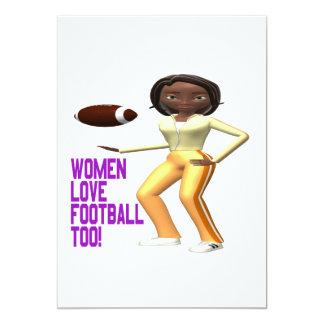 """Fútbol del amor de las mujeres también invitación 5"""" x 7"""""""