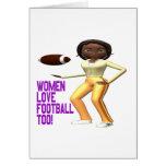 Fútbol del amor de las mujeres también felicitacion