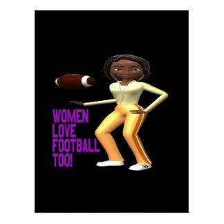 Fútbol del amor de las mujeres también postal