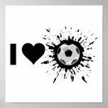 Fútbol del amor del explosivo I Impresiones