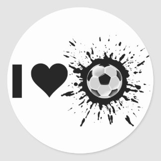 Fútbol del amor del explosivo I Pegatina Redonda