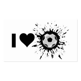 Fútbol del amor del explosivo I Tarjetas De Visita