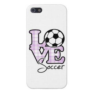 Fútbol del amor iPhone 5 cárcasas