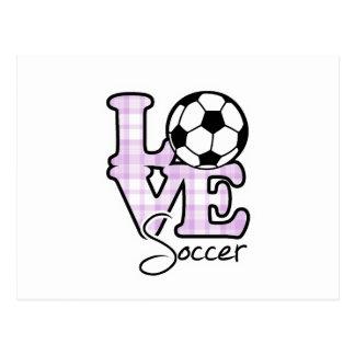 Fútbol del amor postal