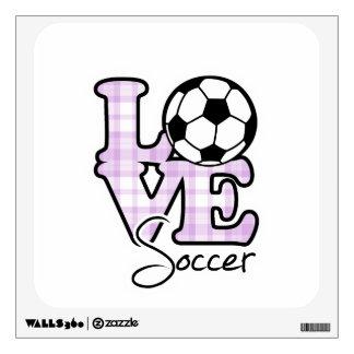 Fútbol del amor vinilo adhesivo