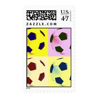 Fútbol del arte pop - franqueo del fútbol sello postal