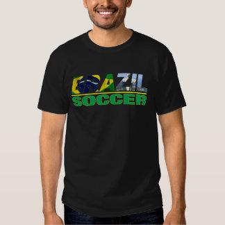 Fútbol del Brasil con la camiseta del negro de la Remeras