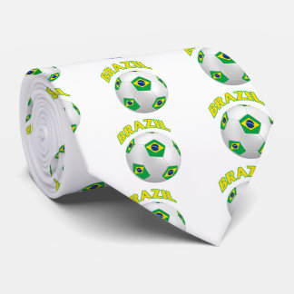 Fútbol del Brasil Corbata Personalizada