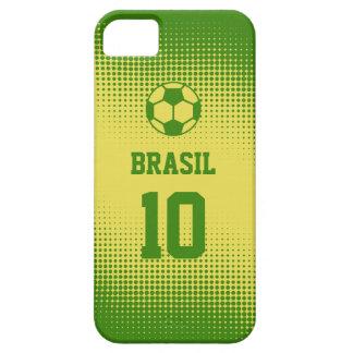 Fútbol del Brasil el Brasil con número de encargo iPhone 5 Funda