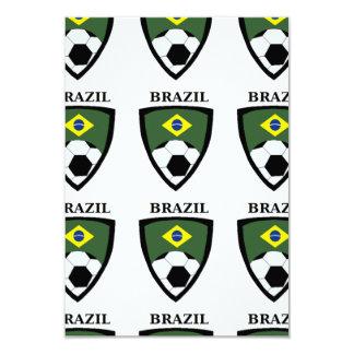 """Fútbol del Brasil Invitación 3.5"""" X 5"""""""