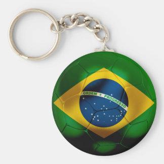 Fútbol del Brasil Llavero Personalizado
