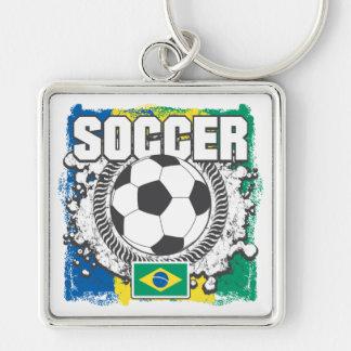Fútbol del Brasil Llaveros