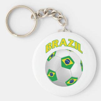 Fútbol del Brasil Llavero Redondo Tipo Pin