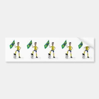 Fútbol del Brasil Pegatina De Parachoque