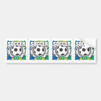 Fútbol del Brasil Pegatina Para Auto