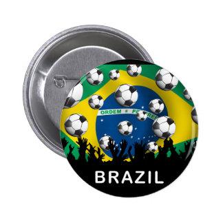 Fútbol del Brasil Pin Redondo 5 Cm