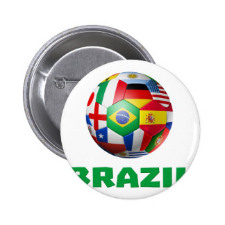Fútbol del Brasil Pins