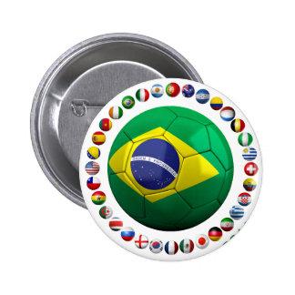 Fútbol del Brasil Pin