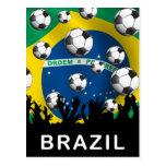 Fútbol del Brasil Postal