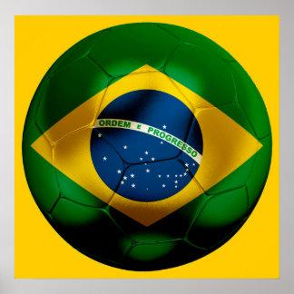 Fútbol del Brasil Póster