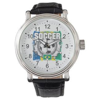 Fútbol del Brasil Reloj De Mano