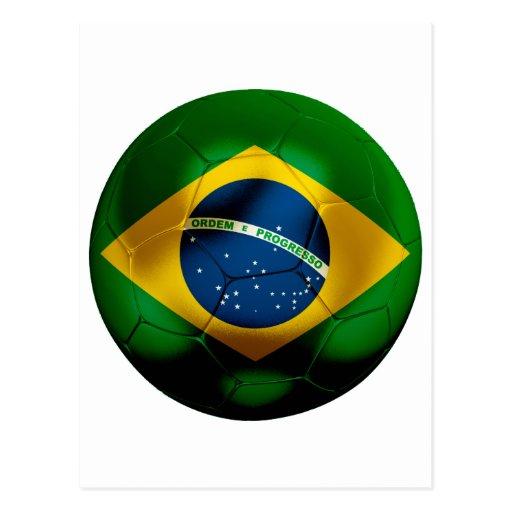 Fútbol del Brasil Tarjeta Postal