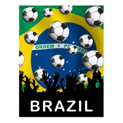 Fútbol del Brasil Tarjetas Postales