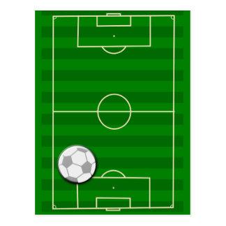 Fútbol del campo de fútbol postal