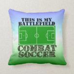 Fútbol del combate almohadas