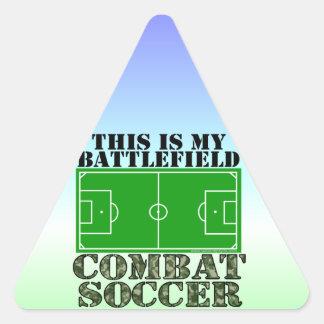 Fútbol del combate pegatina triangular
