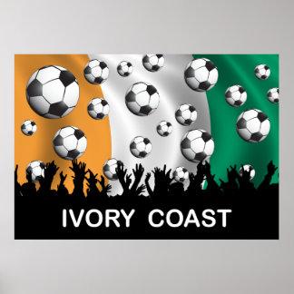 Fútbol del d Ivoire de Côte Poster
