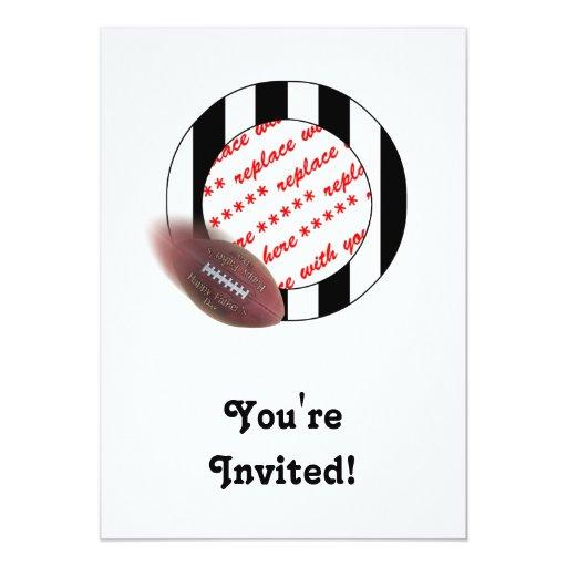 Fútbol del día de padre - marco de la foto del invitación 12,7 x 17,8 cm