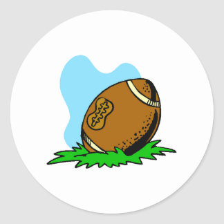 Fútbol del dibujo animado pegatinas redondas