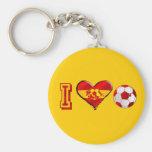 Fútbol del español del corazón I Llavero