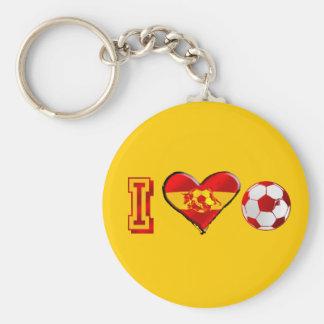 Fútbol del español del corazón I Llavero Redondo Tipo Pin