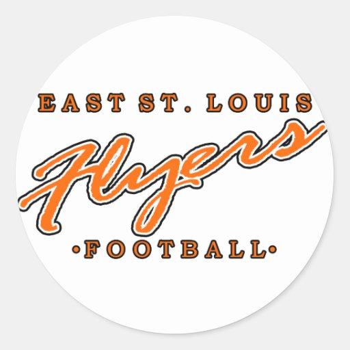 Fútbol del este de los aviadores de St. Louis Pegatina Redonda