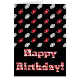 Fútbol del feliz cumpleaños de Houndstooth Felicitaciones