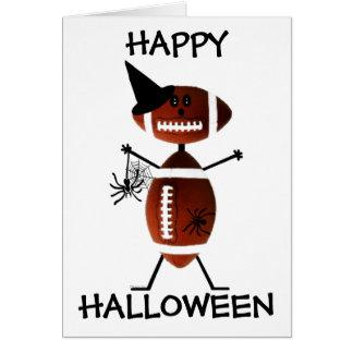 Fútbol del feliz Halloween Tarjeta De Felicitación